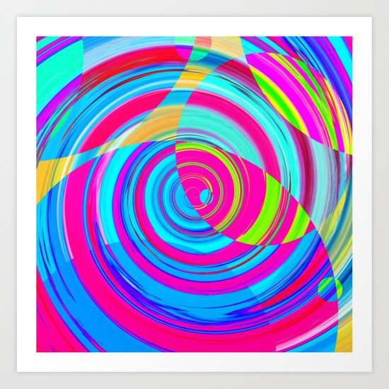 Re-Created Spiral Painting V by Robert S. Lee Art Print