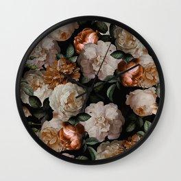 Golden Jan Davidsz. de Heem Roses Wall Clock