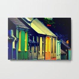 Dingle Ireland Colorful Row Houses Irish Photography Metal Print