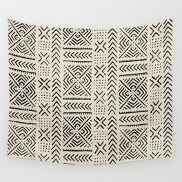 Line Mud Cloth // Bone Wall Tapestry