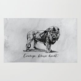 Courage, brave heart - Aslan - Chronicles of Narnia Rug