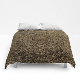 Decorative Ek Onkar / Ik Onkar  embossed on gold Comforters