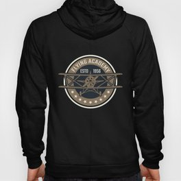 Aviation Clothing, flying school, single-engine plane Illustration. Hoody
