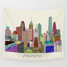 Philadelphia city sklyine Wall Tapestry