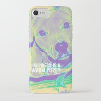 kobe iPhone & iPod Cases featuring Happiness: Pitbull (Dog)  by PupKat