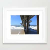 santa monica Framed Art Prints featuring Santa Monica by Joni