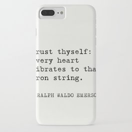 THE BEST RALPH WALDO EMERSON EVER quotes iPhone Case