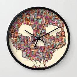 OldSkull City Wall Clock