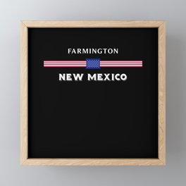 Farmington New Mexico Framed Mini Art Print