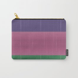 Purple Pink Green Bold Stripes Carry-All Pouch