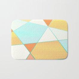 Orange and Mint Bath Mat