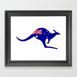 australia kangaroo Framed Art Print