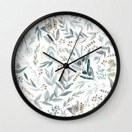 Eucalyptus pattern Wall Clock