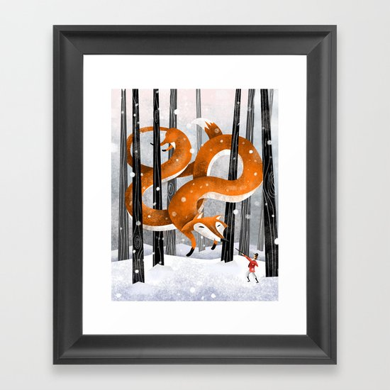 Giant fox Framed Art Print
