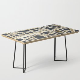 PARIS MAP GREY GOLD Coffee Table