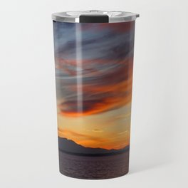 marvelous sunset over the sea Travel Mug