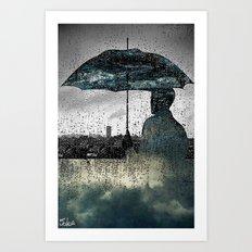 rainy day dreams Art Print