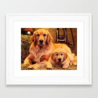 mom Framed Art Prints featuring Mom by Robin Curtiss