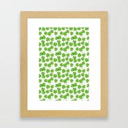 Clover Pattern Framed Art Print