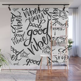 Good Vibes Pattern Wall Mural