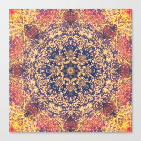 Distant Clouds Mandala Canvas Print