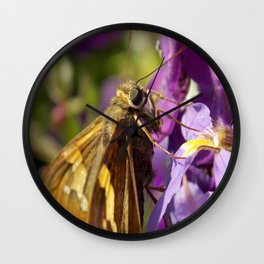 Skipper Butterfly Wall Clock