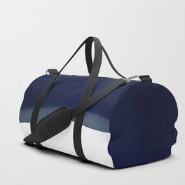 Minimal Navy Blue Abstract 02 Landscape Duffle Bag