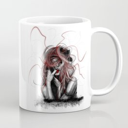 Girl biting the finger V2 Coffee Mug