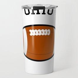 Ohio American Football Design black lettering Travel Mug