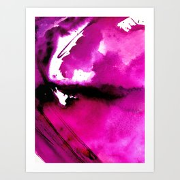 Bliss: a vibrant, bold, pretty abstract piece in magenta, purple Art Print