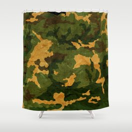 Camouflage Muster Grunge Shower Curtain