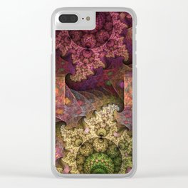 Unending magical spirals and spheres Clear iPhone Case