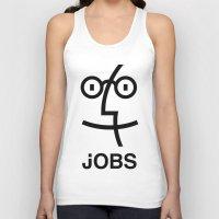 steve jobs Tank Tops featuring JOBS by Mr. Pandastic