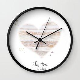 Jupiter in love Wall Clock