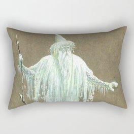 """Walter Crane """"The snowman"""" Rectangular Pillow"""