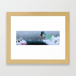 Giant Mutant Penguin Framed Art Print
