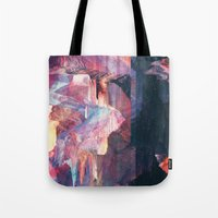 Tote Bags featuring In the club by Adam Priester