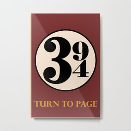 Turn to Page 394 Metal Print