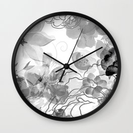 Rosie Outlook - grayscale Wall Clock