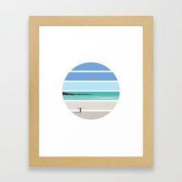 Tiree Longboarder Framed Art Print