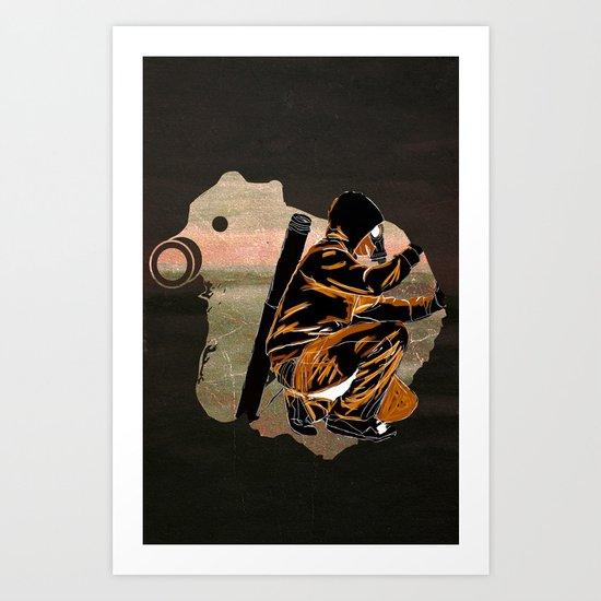 My Dexterous Shadow Art Print