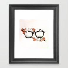 The Heart Wants What It Wants Framed Art Print