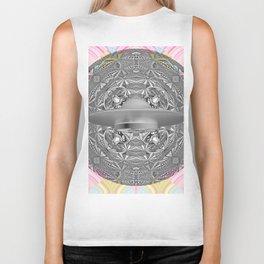 UFO Space Mandala Art Print Biker Tank
