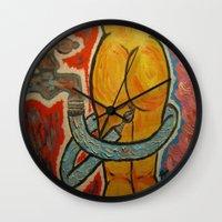 erotic Wall Clocks featuring Erotic Art by Rossella Inghilleri