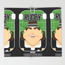 Rugby Black - Maul Propknockon - June version Throw Blanket