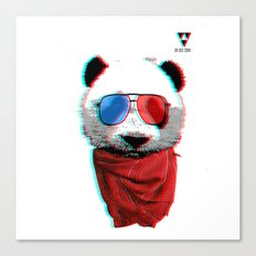 3D Panda Canvas Print