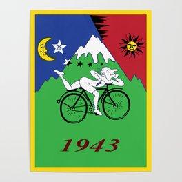 Bicycle Day 1943 Albert Hofmann LSD Poster