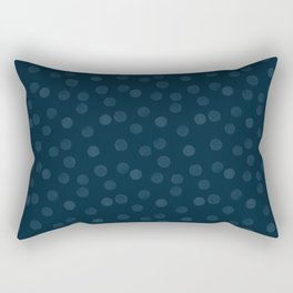 Dark blue polka dot Rectangular Pillow
