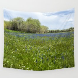 Field of Camas and Dandelions, No. 1 Wall Tapestry