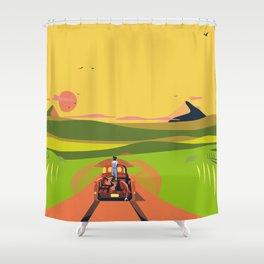 Farmhouse Hitchhiker Shower Curtain